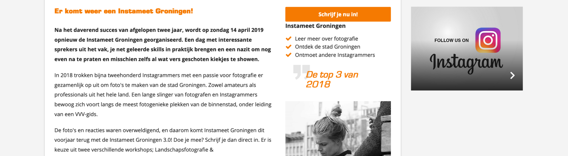 #InstameetGroningen coming 3.0 date is released via/ @Visit.Groningen VVV/MarketingGroningen the event will be held on Sunday, April 14th 2019 SignUp is going really fast!