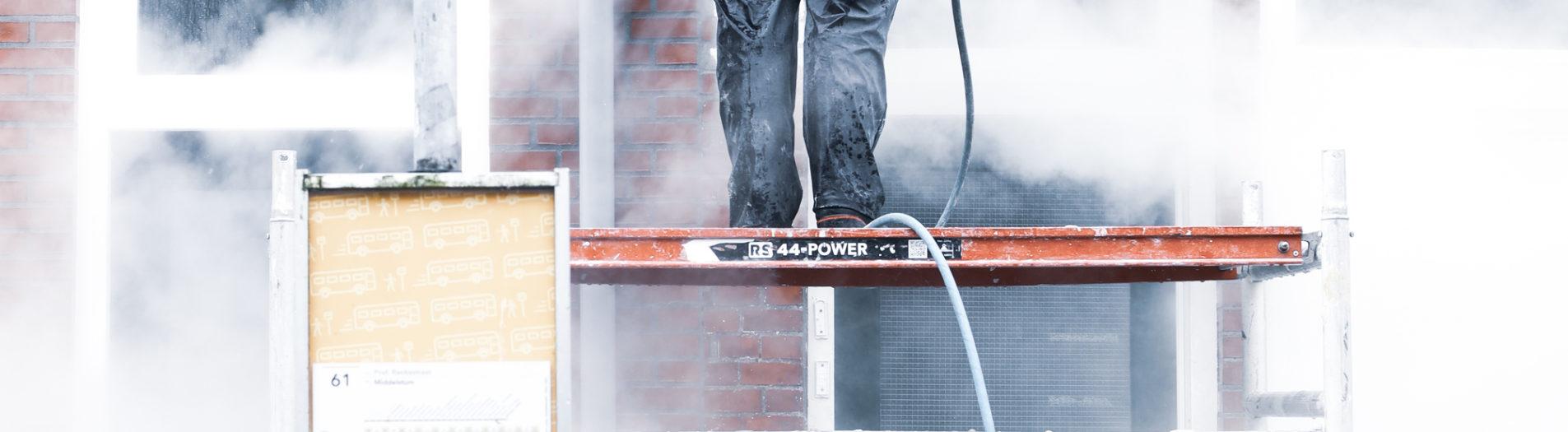 Siesling B.V. (Hoge druk stoom reiniging / Gevelreiniging) Oosterparkwijk/Groningen door DillenvanderMolen @MrOfColorsPhotography