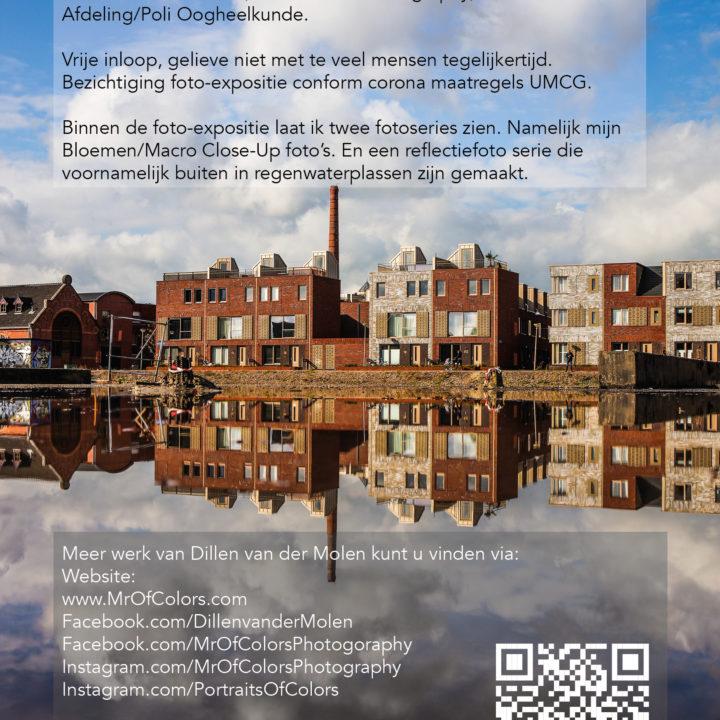 Digitale Flyer #FotoExpoDillenvanderMolen 21 September 2021 @UMCGroningen Oogheelkunde @FotoSipkes x @InspireMediaGroningen/Cosis